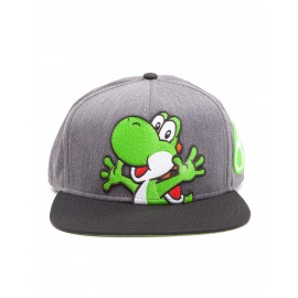 Nintendo - Super Mario Grey Snapback With Yoshi And Egg