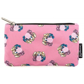 Loungefly Harley Quinn Bubble Gum AOP Nylon Pouch