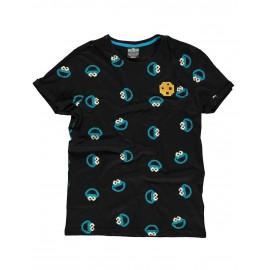 Sesamestreet - Cookie Monster AOP T-shirt - 2XL