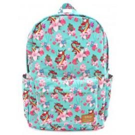 Loungefly Mulan Mushu & Crickie Nylon AOP Backpack