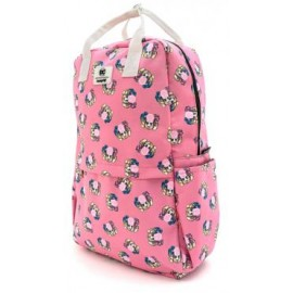 Loungefly Harley Quinn Bubble Gum AOP Nylon Square Backpack