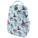 Loungefly Ariel Scenes AOP Nylon Square Backpack
