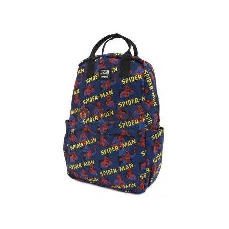 Loungefly Spiderman AOP Square Nylon Backpack