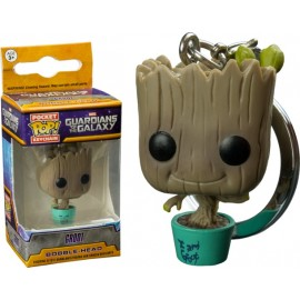 POP Keychain - Marvel - Baby Groot in Teal Pot LIMITED