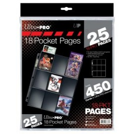 9-Pocket Pages Silver (100) 11 holes (25 pack)
