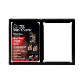 Magnetic Holder 2 card one touch black holder