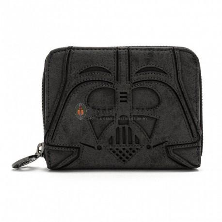 Loungefly Star Wars Blk Vader Zip Around Wallet