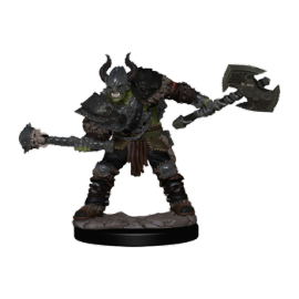Pathfinder Battles: Premium Painted Figure - Half-Orc Barbarian Male