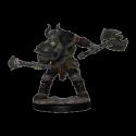 Pathfinder Battles: Premium Painted Figure - Half-Orc Barbarian Male
