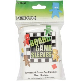 Board Game Sleeves Clear- Medium (57x89mm) 10p