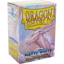 Dragon Shield Matte - White (10x100)