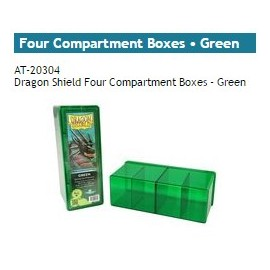 Dragon Shield Storage Box w. Four Comp green