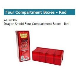 Dragon Shield Storage Box w. Four Comp red