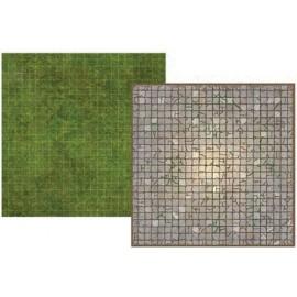 Battle Mat Board Dungeon and Grassland
