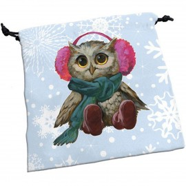 Deluxe Dice Bag Festive Owls