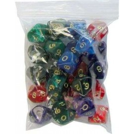 D10 Bag Marble Dice (25)
