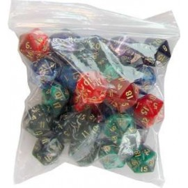 D20 Bag Marble Dice (25)