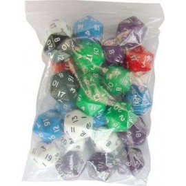 D20 Bag Opaque Dice (25)