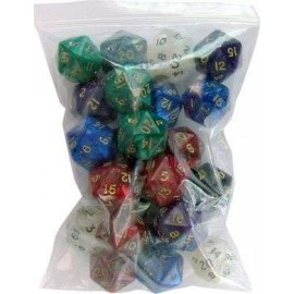 D20 Bag Pearl Dice (25)