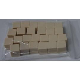 D6 Bag Blank Ivory Dice (25)
