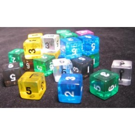 D6 Bag Numbers Gem Dice (25)