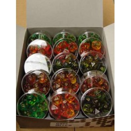 Display of 15 Round Containers Polydice Blitz (15x7)