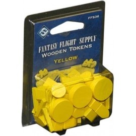Wooden Tokens Yellow