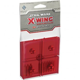 Star Wars X-Wing Red Bases and Pegs