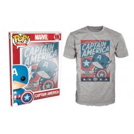 POP Tees 18 - Marvel - Captain America - Fighting (L)