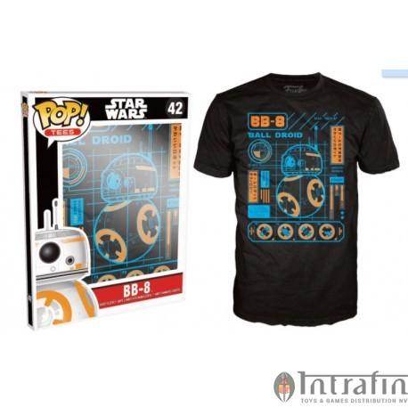 POP Tees 42 - Star Wars EPVII - BB-8 Blueprint (L)