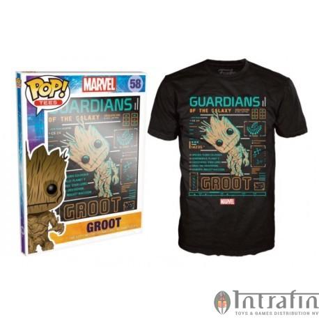 POP Tees 58 - Marvel - Groot (M)