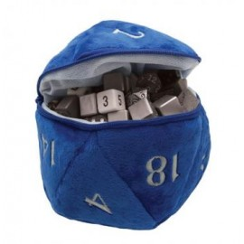 D20 Plush Dice Bag Bleu