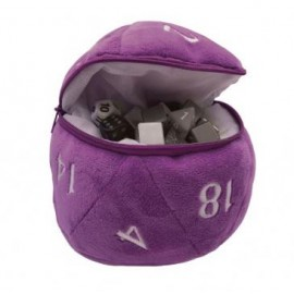 D20 Plush Dice Bag Purple