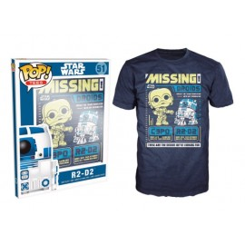 POP Tees 51 - Star Wars - C-3PO and R2-D2 Missing (XXL)