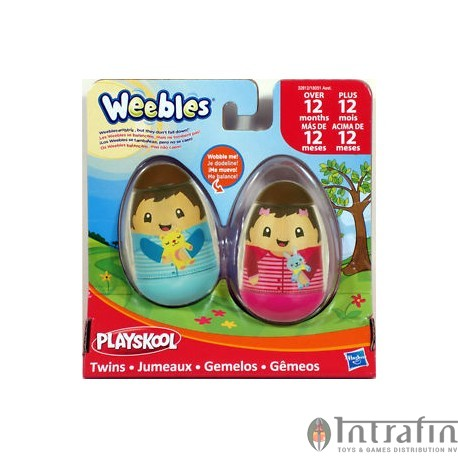 Weebles figures 2-pack