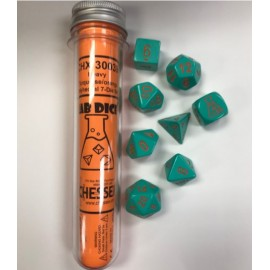 Lab 4: Heavy Dice Turquoise / Orange 8-Die Set