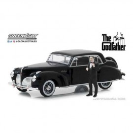 The Godfather (1972)-1974 Lincoln Continental Black with Don Corleone Figurine 1:43