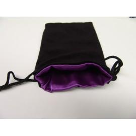 Velvet Dice Bag Black/Purple 12x20cmm