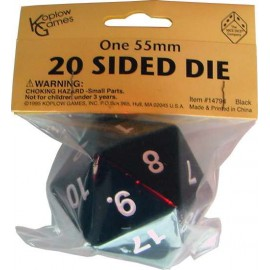 Mega D20 Black 55mm Spindown