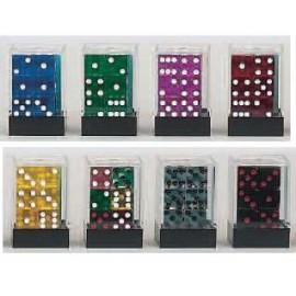 D6 Brick Transparent Dice (12)