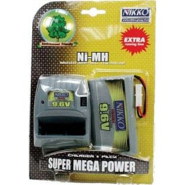 Battery 9.6v Mega Pack & Charger