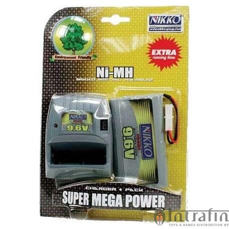 Battery 9.6v Mega Pack & Charger