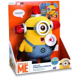 MINIONS - Talking Plush - BEE-DO FIREMAN STUART