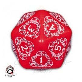 D20 Red & White Level Counter