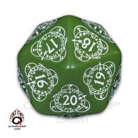 D20 Green & White Level Counter