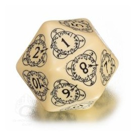D20 Beige & Black Level Counter