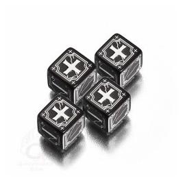 Black- White Antique Fudge Dice (4)
