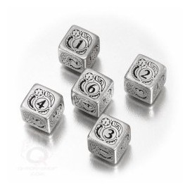 Metal D6 Steampunk Dice (5) Box