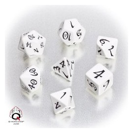 White & Black Classic RPG Dice Set(7)
