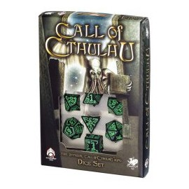Call of Cthulhu Black & Green DiceSet (7)